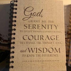 Journal - NEW- Christian Serenity Prayer Notebook